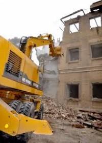 تخریب ساختمان مغازه ها